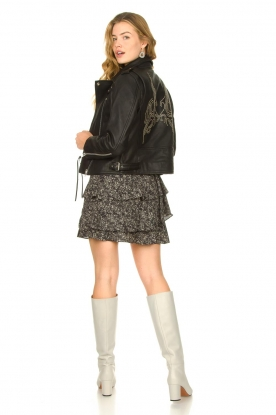 Look Studded leather biker jacket Emili