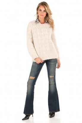 Atos Lombardini | 5-pocket flared jeans Mino lengtemaat 32 | blauw