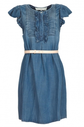 ELISABETTA FRANCHI |  Denim dress with ruffles Vive | blue