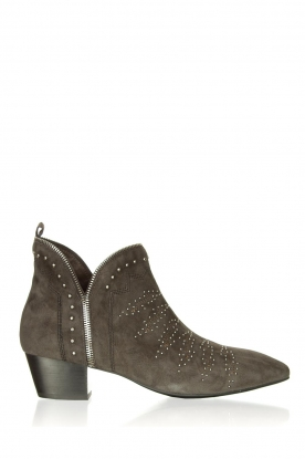 Sofie Schnoor | Suede studded ankle boots Lilly | grey