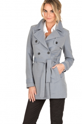 IKKS | Trenchcoat Court | blauw