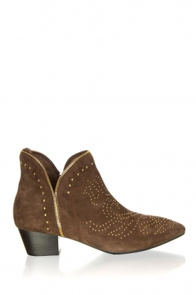 Sofie Schnoor |  Suede ankle boots Vally | dark brown