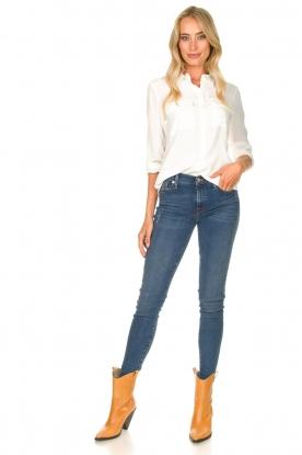Look Skinny jeans met strass stenen Slim