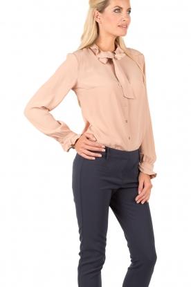 Bow tie blouse Ella | roze