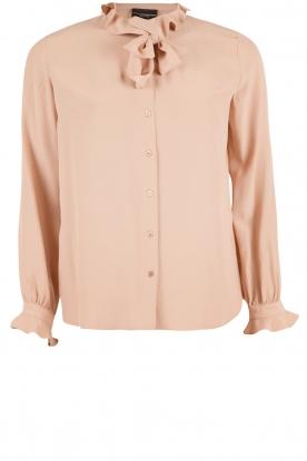 Atos Lombardini | Bow tie blouse Ella | roze
