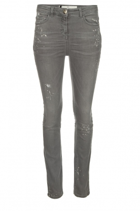 ELISABETTA FRANCHI |  Skinny jeans with paint splatter Rita | grey