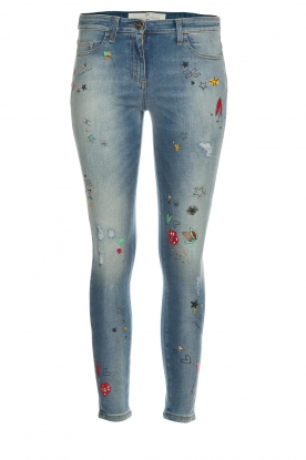 ELISABETTA FRANCHI |  Jeans with paint decorations Ava | blue