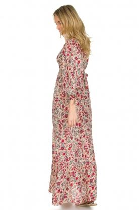 Antik Batik | Bloemenprint jurk Annie | Rood
