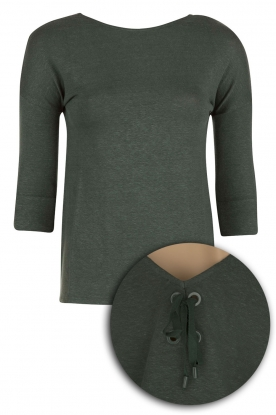 Sessun |  Linen top Tarouca | green