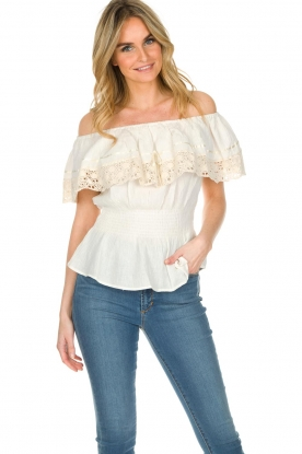 Antik Batik | Off-shoulder top Julietta | naturel