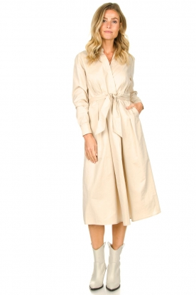 JC Sophie |  Maxi dress with belt Elora | beige