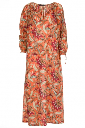 Antik Batik | Maxi-jurk Kalao | oranje/rood | Maxi-dress Kalao | orange/red