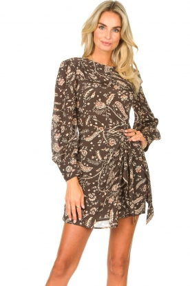 ba&sh |  Dress with print Costel | carbone