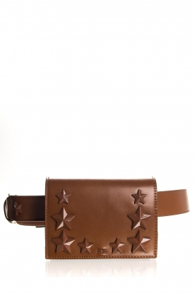 ELISABETTA FRANCHI |   Beltbag with studs Gianduia | Brown