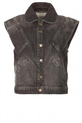 ba&sh    Denim waistcoat Max   black