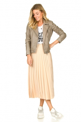 JC Sophie | Pleaded skirt Eddinburgh | nude