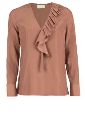 DAY Birger et Mikkelsen |  Blouse Fragile |  rust brown