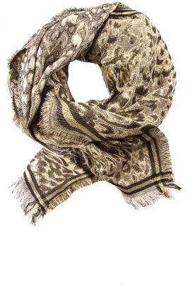 Becksöndergaard | Sjaal met luipaardprint en glitterdetails Esther | dierenprint
