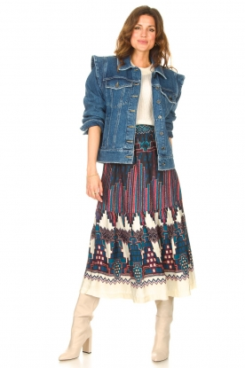 Look Printed midi skirt Maris