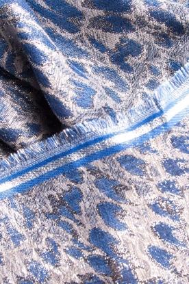 Becksöndergaard | Sjaal met luipaardprint en glitterdetails Esther | blauw
