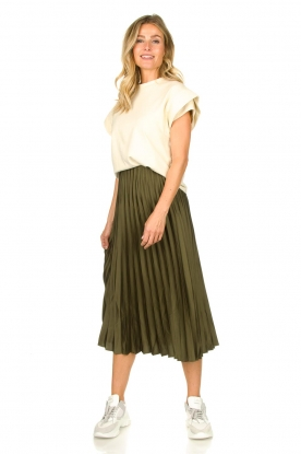 JC Sophie | Pleaded skirt Eddinburgh | green