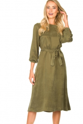 JC Sophie |  Cupro dress Elliery | green