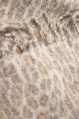 Becksöndergaard | Sjaal met luipaardprint Racie | grijs