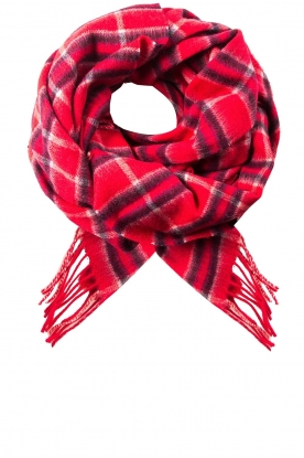 Becksöndergaard |  Checkered scarf Easton | red