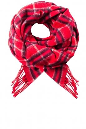 Becksöndergaard | Geruite sjaal Easton | rood