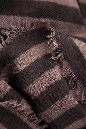 Becksöndergaard   Sjaal Stripes   zwart