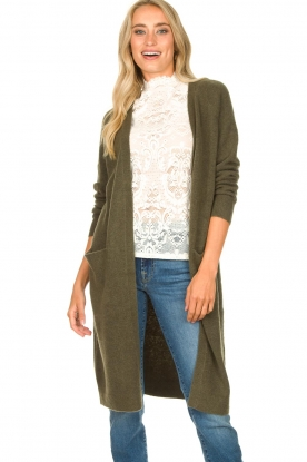JC Sophie |  Soft knitted cardigan Estevania | green