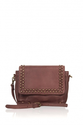 Antik Batik |  Leather shoulder bag West | brown