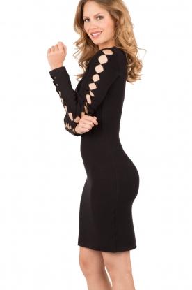 NIKKIE | Fitted jurk Jula | zwart