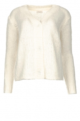 JC Sophie | Soft knitted cardigan Ermine | natural