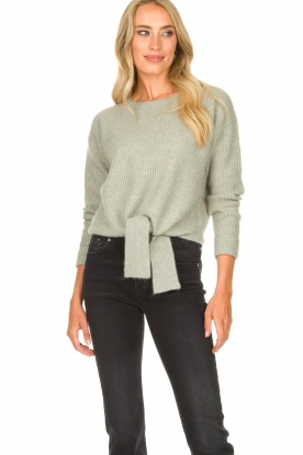 JC Sophie |  Sweater with knot detail Esra | green