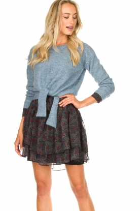 JC Sophie |  Sweater with knot detail Esra | blue