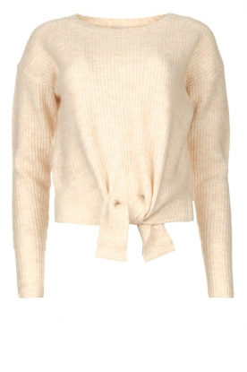 JC Sophie | Sweater with knot detail Esra | natural
