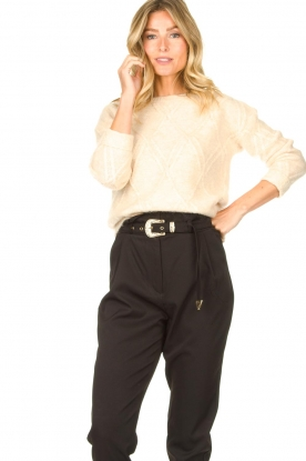 JC Sophie | Cable sweater Esparanza | beige