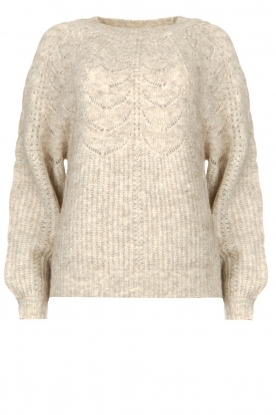 JC Sophie | Sweater with open details Estrella | grey