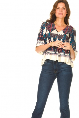 ba&sh |  Top with print Marry | blue