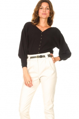 ba&sh |  Cardigan with puff sleeves Hazel | black
