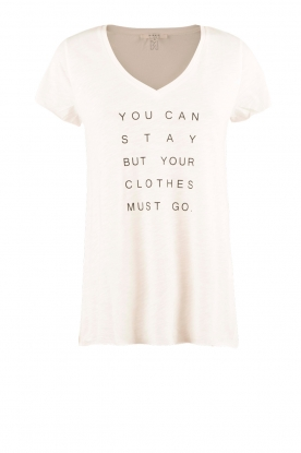 NIKKIE | T-shirt Stay Or Go | wit