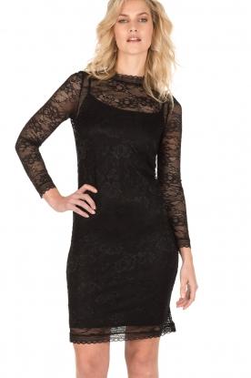 Rosemunde | Kanten jurk Demy | zwart