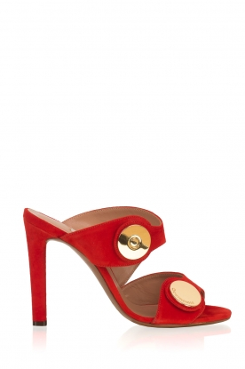 L'Autre Chose |  Suede sandals Luzia | Red