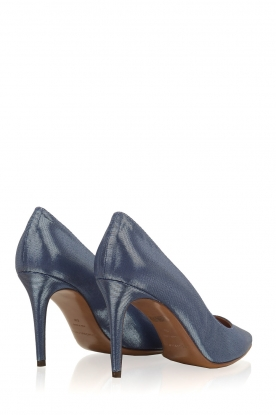 L'Autre Chose | Metallic pumps Soline | Blauw