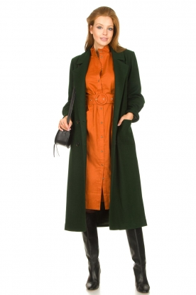 Look Midi-jurk met bijpassende ceintuur Velvet