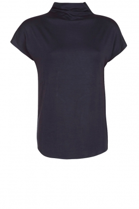 Rosemunde | Top met losse col Maura | dark blue