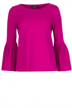 Set |  Sweater with pleated sleeves Verla | Pink