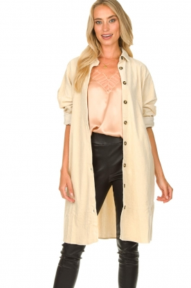 JC Sophie | Ribbed coat Effie | beige