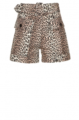 Notes Du Nord |  Leopard printed short with belt Vicky | animal print
